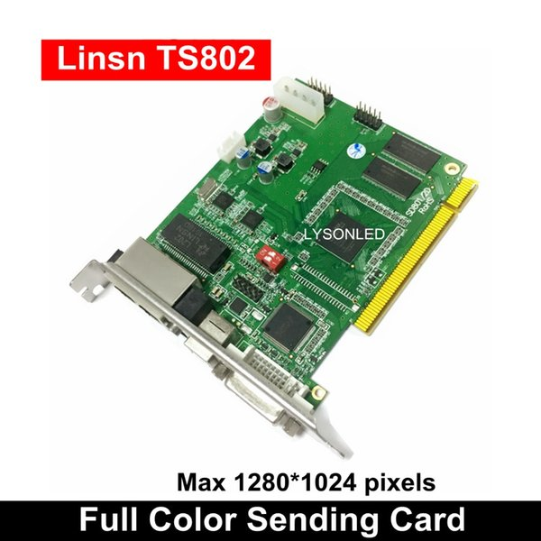 LINSN TS802D Gönderme Kartı, Tam Renkli LED Video Ekran LINSN TS802 Gönderme Kartı Senkron LED Video SD802