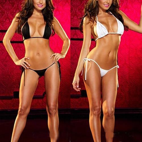 Hot Womens Sexy Lingerie Swimsuit Swimwear Babydoll Bikini Top Bra G-string Set Hot