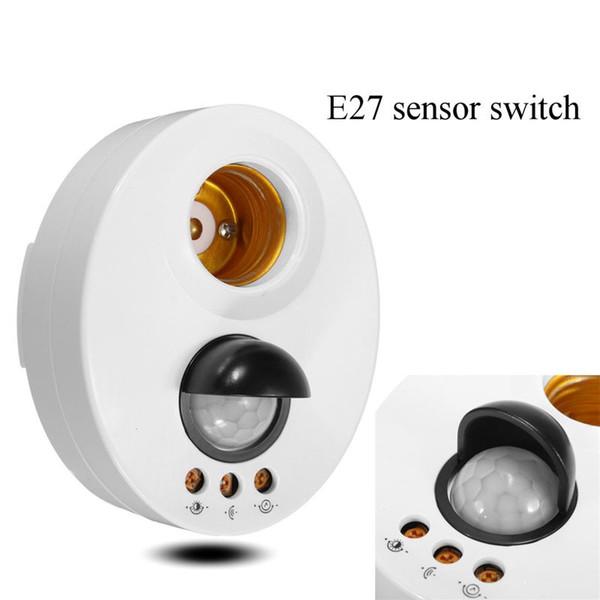 Infrared Light Lamp Holder Switch Motion PIR Sensor Adjustable Delay Base Lamp Holder