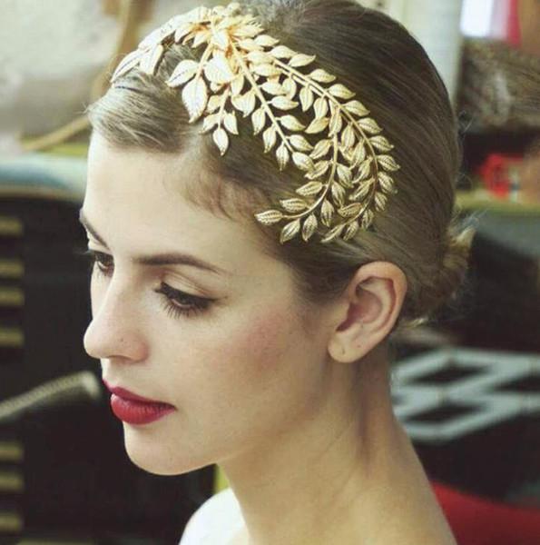 Gold Baroque monochrome bridal headwear crown crown dress jewelry