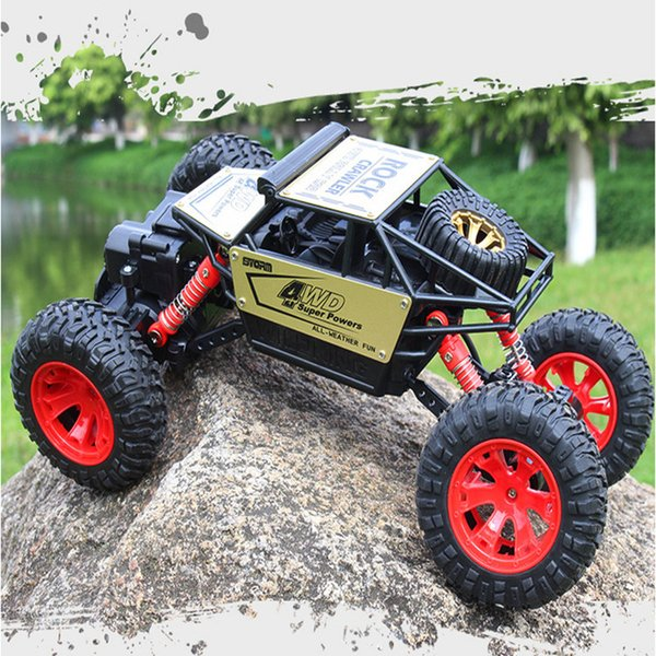1:16 remote alloy car 2.4 G climbing all-wheel-drive bigfoot cross-country climbing fancy electric toy car
