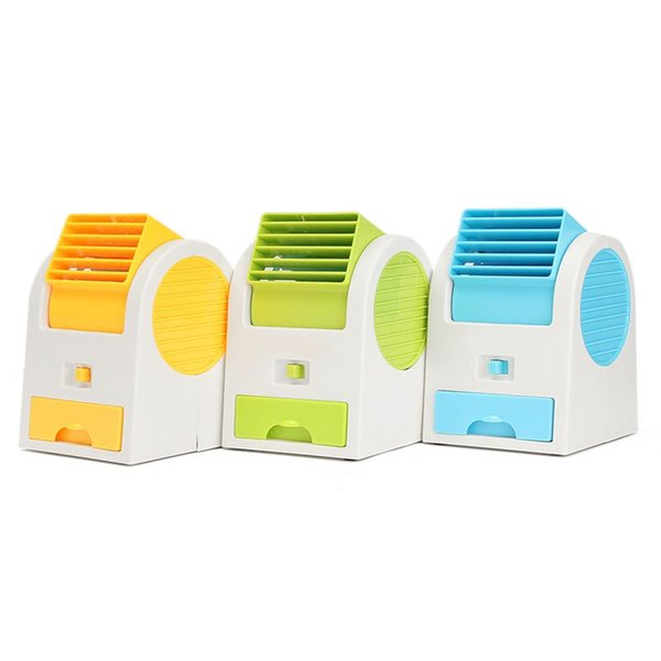 Wholesale-Mini Small Cooling Fan Cooler Portable Desktop Bladeless Air Conditioner USB Charge Quiet Fan For PC Laptop