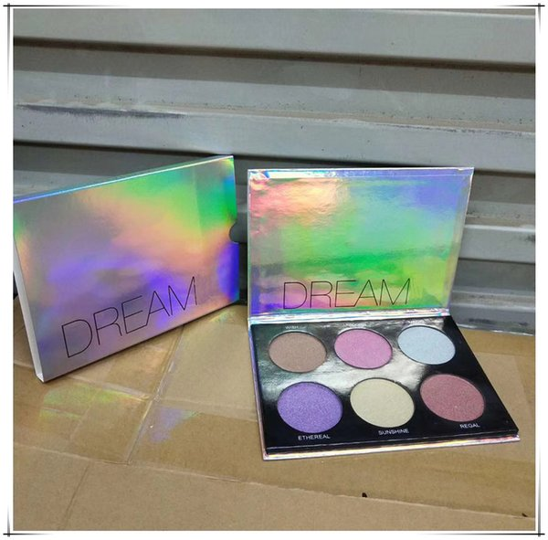 Best Quality! Brand makeup palette Dream highlighter palette matte & shimmer easy to wear natural & free 6 colors FAST shipping