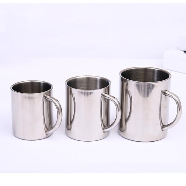 Tazza da caffè portatile da 220 ml 300ml Tazza da caffè portatile da 400 ml in acciaio inox