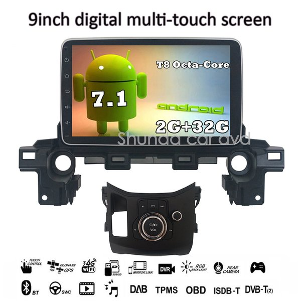 SHUNDA HD 9inch Android 7.1 T8 2G 32G Car DVD player for MAZDA CX-5 2018 with 3G 4G WIFI BT SWC GPS Navigation Radio RDS Stereo Map