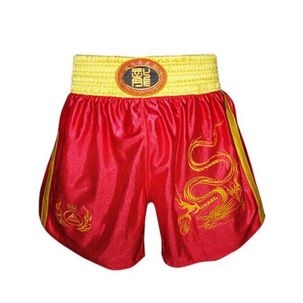 Pantalones cortos de lucha Muay Thai Shorts Pantalones de boxeo Ropa deportiva para hombre Pantalones cortos de combate gratis Ropa para hombres Entrenamiento Fitness Negro Azul Rojo