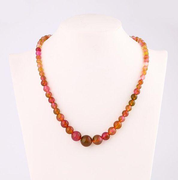 Agate Chain Necklace Natural Stone Power Crystal Women Jewelry Bead Bts Accessories Boho Bikini Bulldog Choker Chocker