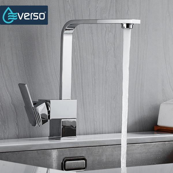 EVERSO 360 Rotate Kitchen Sink Faucet Kitchen Mixer Tap Faucet Black Taps Torneira