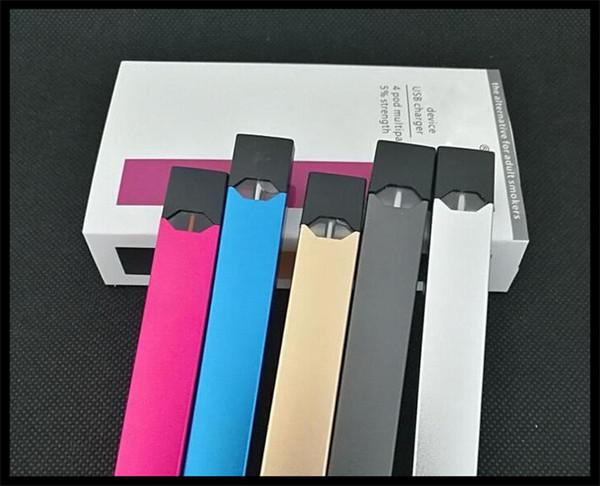 quit smoking electronic cigarette flat e cigarette kit auto smoking no button USB stick vaporizer rechargeable pod pen set with 4 flavors