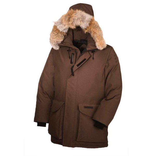 S-2XL Brand 2018 New Mens outdoor thick Goose Down Fire Rhinoceros Parka Coat Winter Mountain climbing Warm Jacket E14