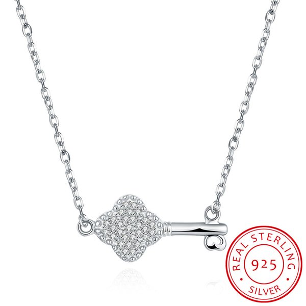 925 sterling silver necklace love key pendant with chain life key necklace gorgeous wedding & engagement necklace