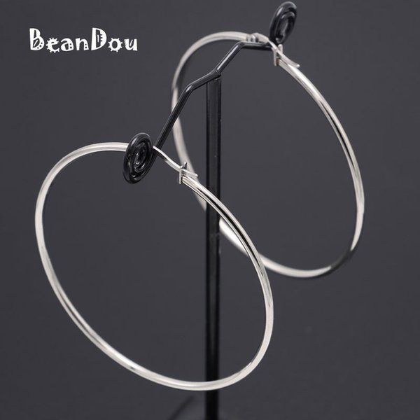 whole saleFashion Small Big Hoop Earrings Stainless Steel Simple Round Earrings 15mm-60mm 6 Sizes Anti-allergic Sexy Jewelry Women Girls
