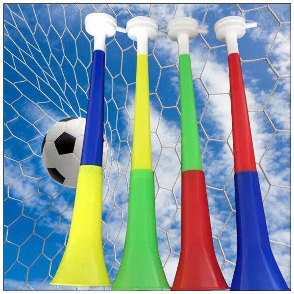 Coupe du monde de football 2018 corne en plastique corne Vuvuzela corne applaudir drapeau national trompette sifflet générateur de bruit nouveauté articles