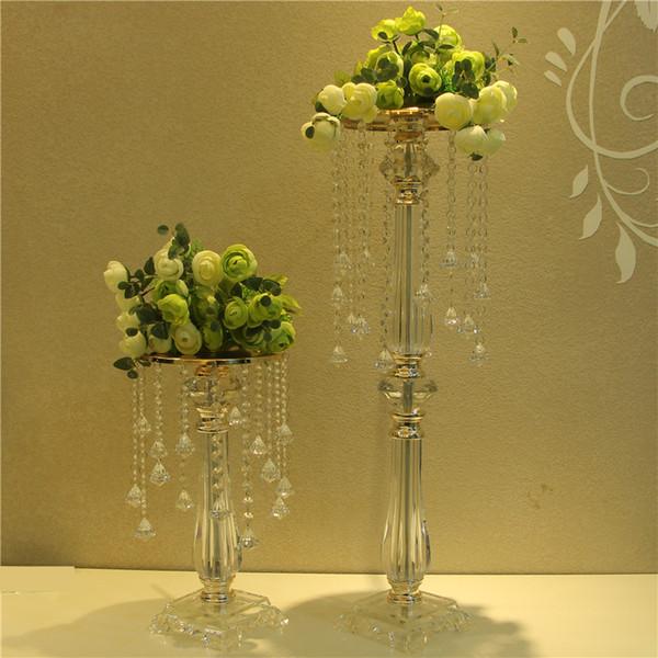 Free shipping Acrylic Crystal Wedding Centerpiece Table Centerpiece 73 cm Tall * 20cm Diameter Wedding Decor road leads
