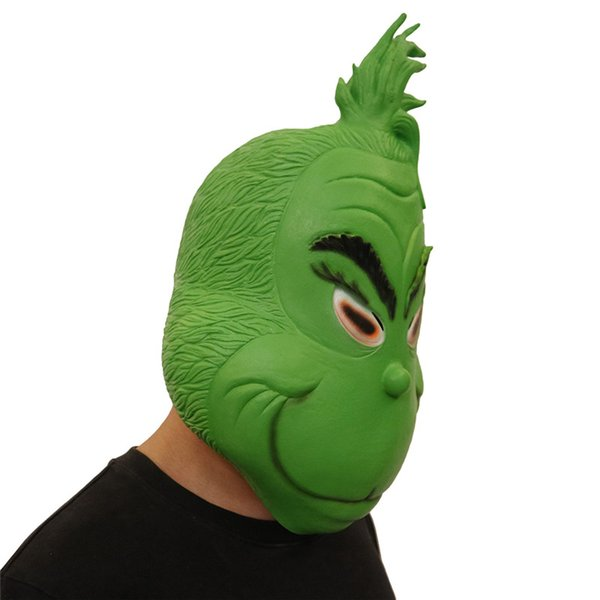 How The Grinch Stole Christmas Costumes.2019 Christmas Full Head Masks The Grinch Mask Cosplay Costumes Funny How The Grinch Stole Christmas Latex Green Mask Children Teengers Face Toys From