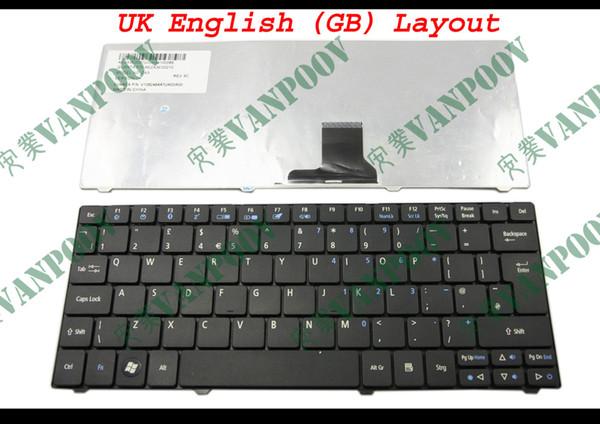 New Laptop keyboard for Acer Aspire one 751 751H 721 3935 3936 ZA3 1810T Black UK (GB) Version - 9Z.N3C82.10U