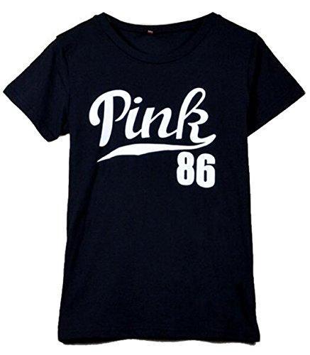Fashion Brand harajuku female t-shirt HANA+DORA Womens Casual Letter Printed Short-Sleeved casual brand design tops