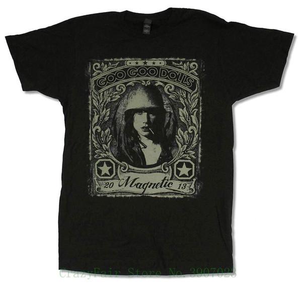 "Adult Goo Goo Dolls "" Propaganda Tour 2013"" Black T-shirt Top Tee For Sale Natural Cotton Tee Shirts"