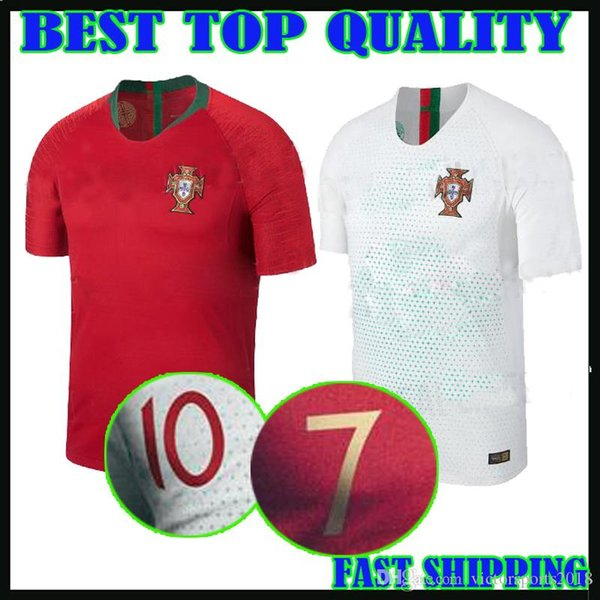 new style 78378 dd08f 2017 Portugal Jerseys 2018 World Cup Home Ronaldo 18 19 Guedes Adult Kit  Away White Gelson Martins Nani National Team Football Jersey Shirts From ...