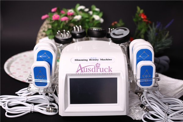 New arrival 6in1 Vacuum Radio Frequency Ultrasonic 40k Cavitation RF Slimming machine LLLT Diode Lipo Laser Lipolysis weight loss equipment