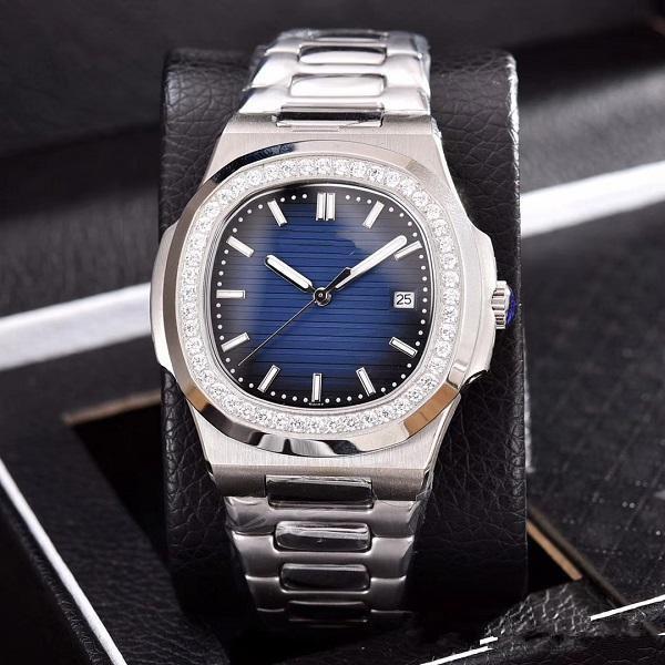 Reloj de pulsera de acero inoxidable automático 2019 reloj de pulsera de acero inoxidable de alta calidad reloj nautilus para hombre relojes para hombre