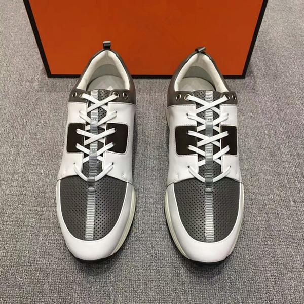 Chaussures Chaussures Nouveau Hommes Personnalisé De En Haut Acheter Cuir Gamme 2018 DécontractéesNoir; Respirant Taille Pour Sneaker Extérieure 8vmNn0w