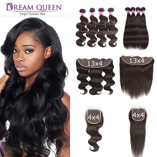 Wholesale Mink Brazilian Virgin Hair Body Wave Hair Weaves 4 Bundles