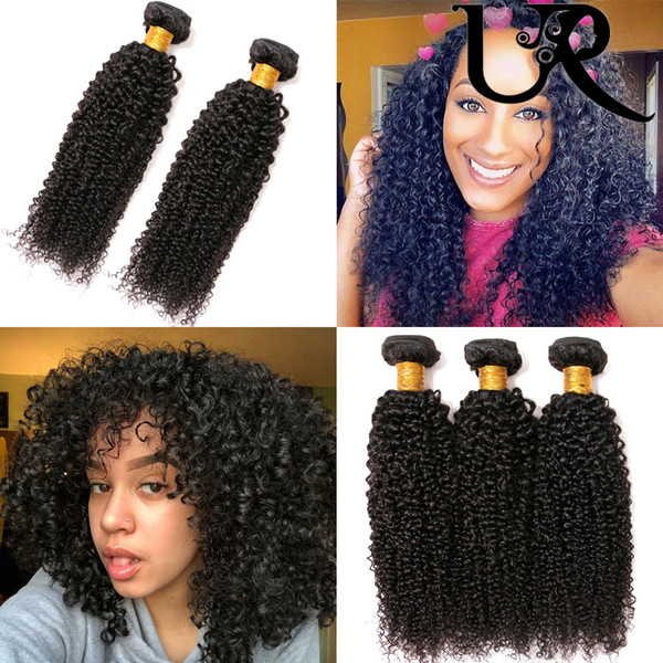 100% Indian Virgin Mink Kinky Curly Human Hair Extensions Weaves 3 Bundles Natural Colour 8-26inch Dyeable 8A URvenus Double Weft