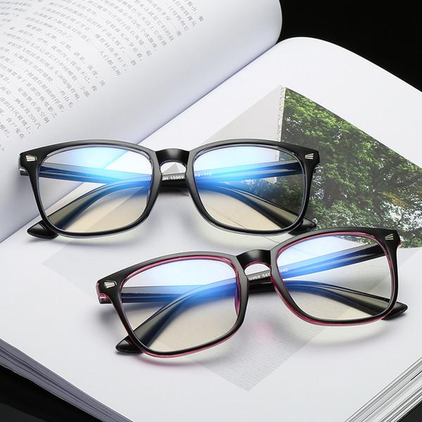 COOLSIR Square Blu-ray anti-radiation Glasses Women Fashion Men Clear Lens TR90 Eyeglasses eyewear glasses frame for women C0035