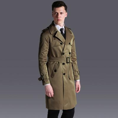 Double Breasted Trench Long 2017 Spring/Fall New Loose British Coat Mens 6XL High Quality Knit Trenchs
