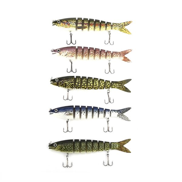 Proberos Artificial Sections Eel Tackle Fishing Lure with Sharp Hooks Assorted Fishing Lure Bait Minnow Crank Swimbait Jointedbait