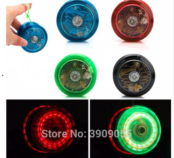Cute Light Up YoYo Ball for Magic Jling Toy Fancy Moves Flashing LED 4 color selection