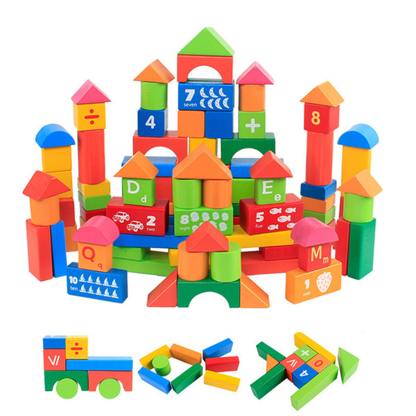 2019 Cartoon Digits And Letters Wood Building Blocks Child Educational Kids  Wooden Bricks Basic Stacking Toys Free Ship From Dhtradeguide, $26 68 |