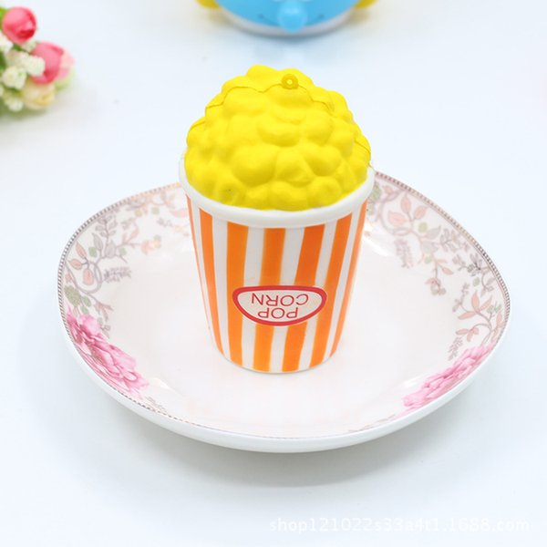 The design Popcorn 12cm*7cm 60g pu squishy kawaii jumbo slow rising Squishy decompression charm squeeze toy free shipping