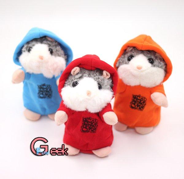 Talking Hamster Talk Suono Registrazione Ripeti Criceto Ripieno Peluche Animale Bambini Giocattolo per bambini Parlando Criceto Giocattoli di peluche Regali Di Natale