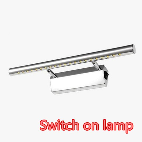 5W 40cm LED Bathroom Mirror Light With Switch Wall Lights AC85-265V SMD5050 Cold White Modern Indoor Sconce Lamps lampada de led