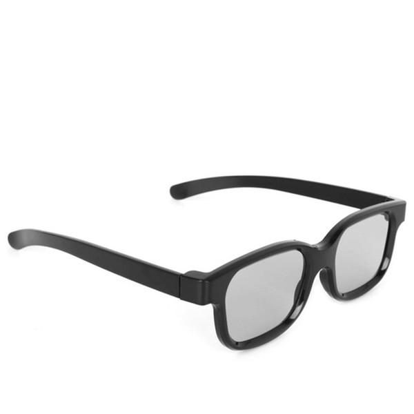 Yüksek kaliteli pasif pasif polarize yuvarlak düz 3D stereo gözlük ev video TV sineması için H3