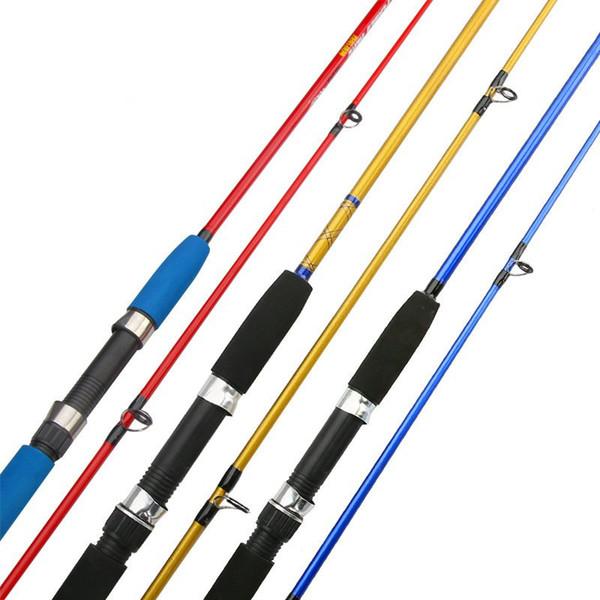 4 colors 1.8m/2.1m Fiberglass fiber Fishing pole with EVA handle M Power Spinning Fishing Rod for Lure Fishing