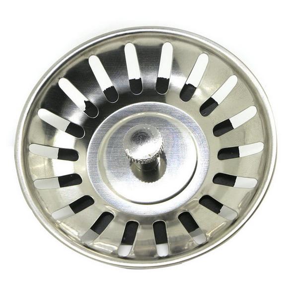 Edelstahl 8 CM Waschbecken Messing Sieb Abfall Stecker Ablaufstopfen Filterkorb Kochen Küche Werkzeug