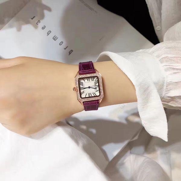 Woman luxury watches fashion lady dress Rhinestone simple quartz wrist watches crystal stainless steel Milan montre feminino
