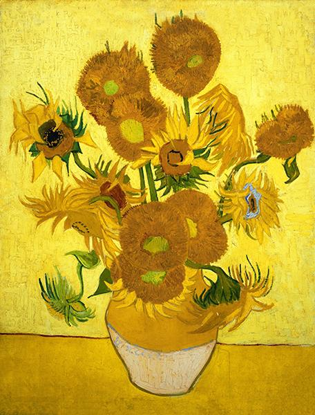 Van Gogh Oil Painting Reproduction Golden Sunflower Canvas HD Picture Giclee Print Wall Art Modern Home Decor Unframed or Framed HT80