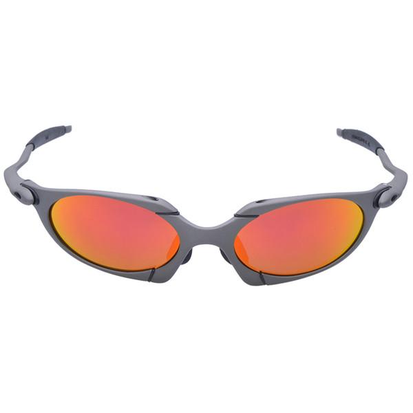 Gafas de Sol WUKUN Hombres Gafas de Ciclismo Polarizadas Marco de Aleación Deporte Gafas de montar gafas de ciclismo gafas CP002-3