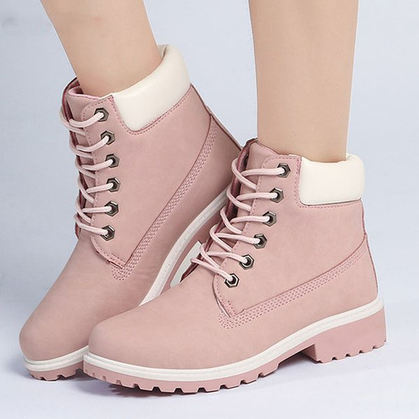 Motocycle booties Women Boots Botas Female Womens Ankle Boots Square Heel Martin Boots Autumn Shoes Camouflage