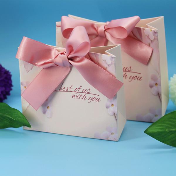Yeni Yeşil Pembe Hediye Çanta Düğün Iyilik ve Hediyeler Kutusu Parti Düğün Dekorasyon Için Kağıt Şeker Kutusu Bebek Duş Malzemeleri