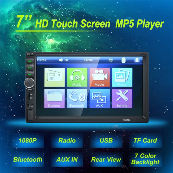 7'' Hight-Quality Autoradio 2 Din General Car Models LCD Touch Screen Car Radio Player Bluetooth Car DVR Audio Support Rear View Camera