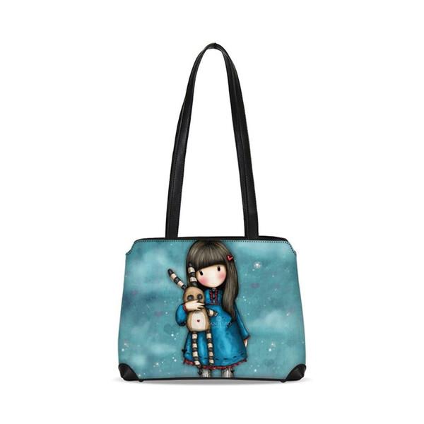 New Cute Bunny Designer Girls Leather Shoulder Bags Women Cartoon Bookbag Ladies Bucket Tote Handbag Fashion Sling Messenger Bag