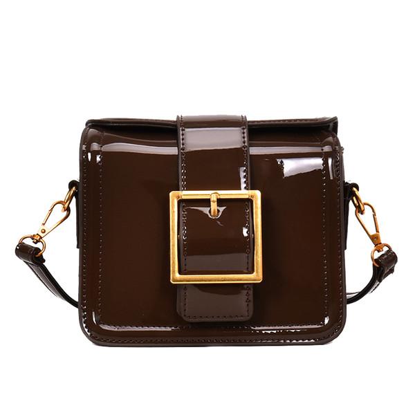 Ins super fire сумка для женщин 2018 новая лакированная кожа сумка через плечо сумка через плечо Messenger маленькая квадратная сумка