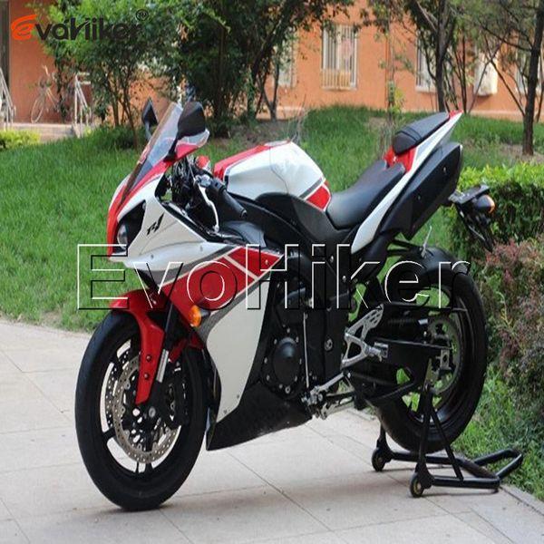 5Gifts + Couvercle de réservoir + INJECTION MOULE ABS rouge blanc FaFor Yamaha YZFR1 2012-2014 YZF-R1 12 13 14 YZF R1 carrosserie de moto