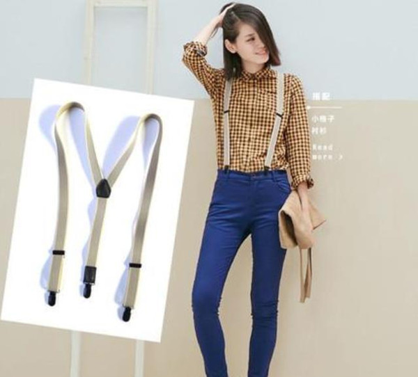 top popular Hot fashion With classic pattern Elastic suspender lady strap black white 3 color suspender good quality 2021