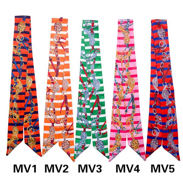 Gestreifte Tasche Schal Multi-Use Handgelenk Kopf Band Tasche Band Fliege Wrap Geschenk und Taschen Griff Wrap Dekoration bunt